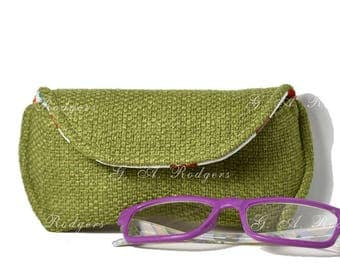 Eyeglass case for Reading glasses, Eyeglasses - 2 colors - Free Shipping within the US -  Gifts under 15