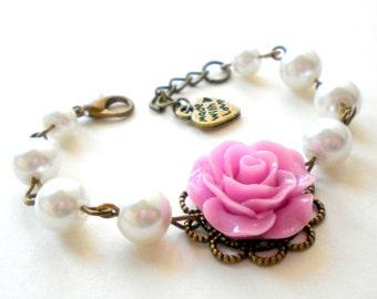Wedding Jewelry Flower Girl Gift Children Bracelet Romantic Purple Bracelet Flower Girl Bracelet Lavender Jewelry Pearl Flower Girl Jewelry