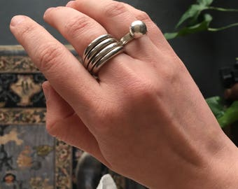 Chunky Vintage Sterling Silver Ring