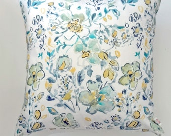 Floral Sketch Pillow Covers, Watercolor Flowers Pillow Covers, 18x18, 20x20 or Lumbar
