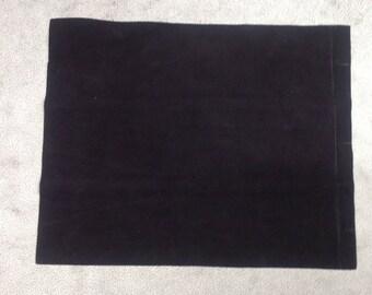 ML941.  Ebony Nubuk Leather Cowhide Remnant