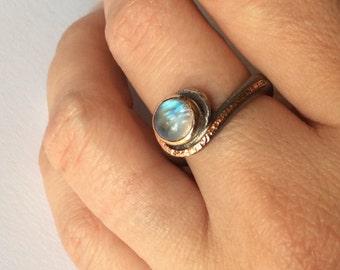 Sterling Silver Ring Opal Ring Gemstone Ring