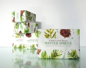 Winter Spruce Soap - 4 Bar Collection FREE Shipping