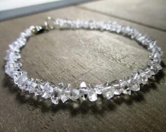 Sparkling Herkimer Diamond Quartz Bracelet