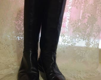 Lovely Handmade Black Riding Boots by Joan and David Couture