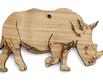White Rhinoceros- Timber Green Woods. Sustainable Harvest Wood. Made in the USA!