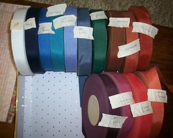1 inch petersham ribbon cotton/rayon old stock