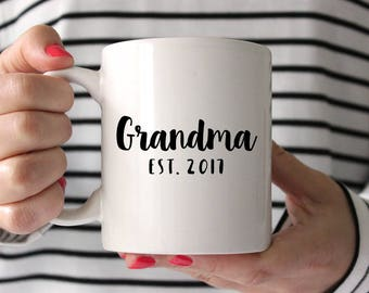 Pregnancy Announcement Grandma New Grandma Gift Pregnancy Reveal to Grandparents  Pregnancy Announcement Grandma Mug Grandparents Cute Mug