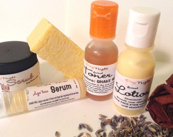 5 Piece Herbal Therapy TRIAL pack for DRY/Mature skin types--Free Shipping