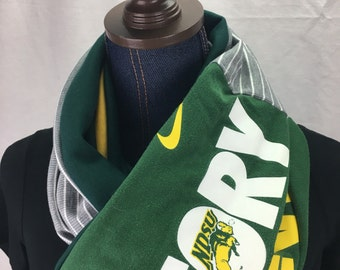 North Dakota State University Recycled T-shirt Infinity Scarf