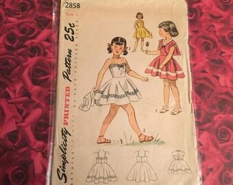 40's vintage Simplicity Pattern