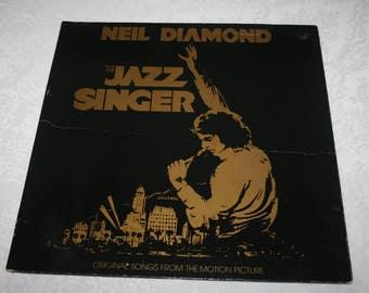 """Vintage Vinyl LP Album """" The Jazz Singer """" Movie Motion Picture Soundtrack with Neil Diamond"""