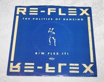 Vintage 45 RPM Record RE - FLEX The Politics of Dancing & Flex It! Capitol Records 1983
