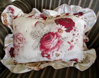 vintage Waverly Garden Room throw pillow -  cotton, floral