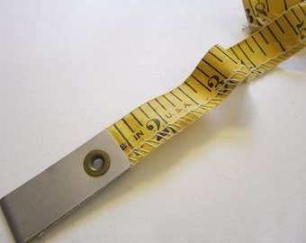 vintage tape measure - 60 inch, stitched edge, metal tab end