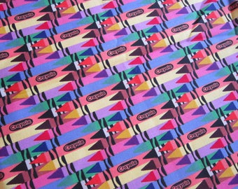 fabric by the yard - CRAYOLA crayons - VIP Cranston 2012 - 44 inches wide