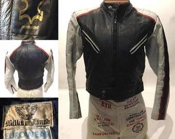 Vintage Racer Biker Motorcycle Leather Jacket (LJ-2)