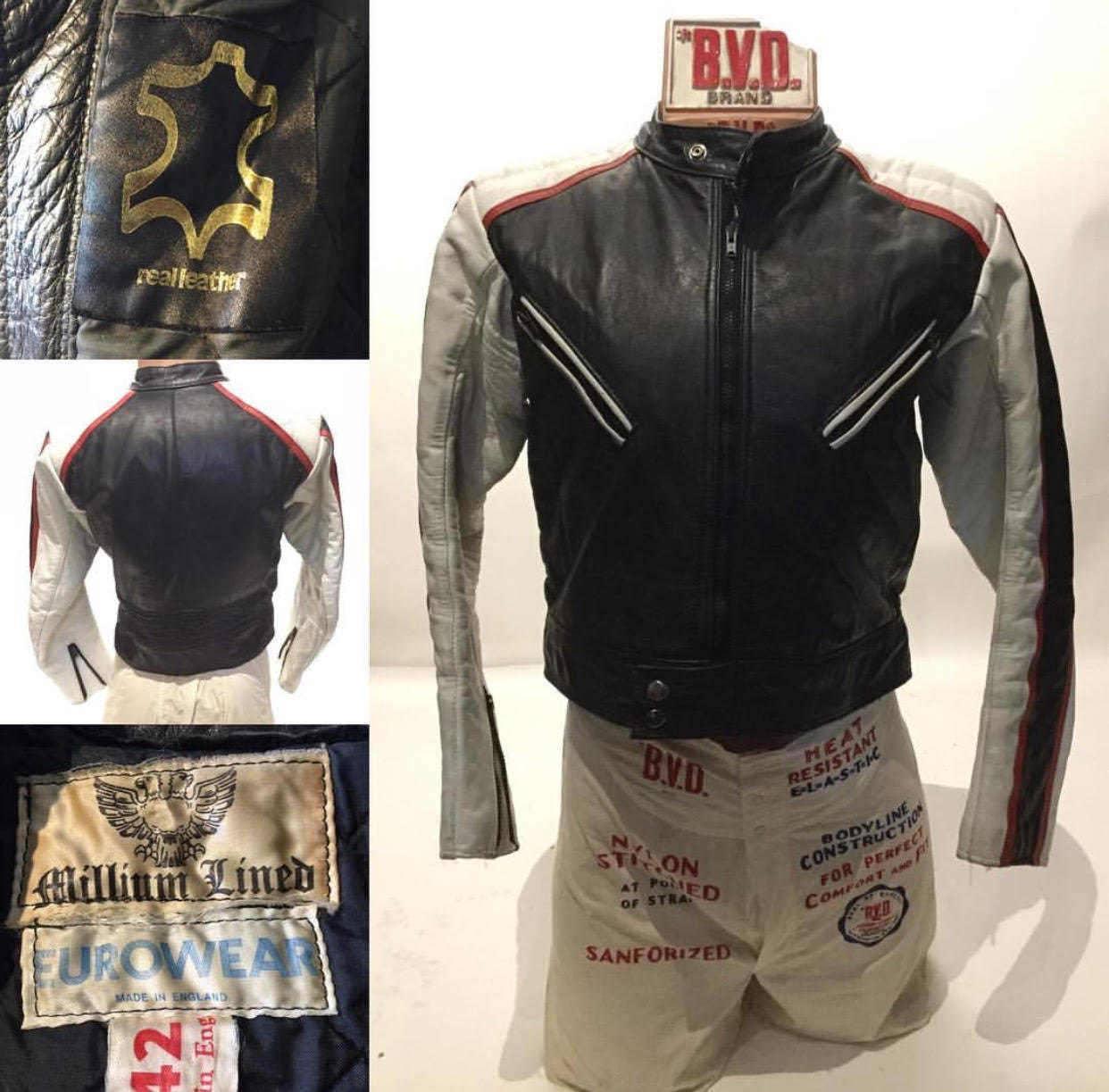 Vintage Racer Biker Motorcycle Leather Jacket (LJ-2)