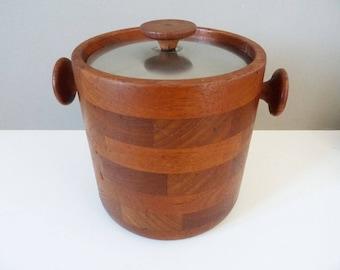 Original 1960's Viners teak & stainless steel  ice bucket