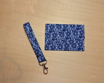 Card holder and keychain set