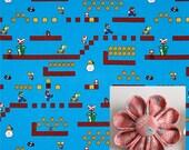 Super Mario Print Fabric Boutonniere