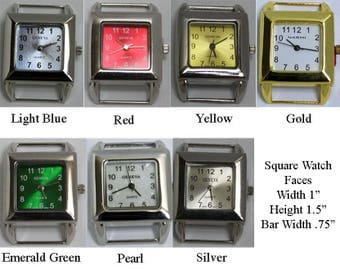 Square Solid Bar Watch Faces for Interchangeable Bracelet Watch