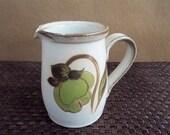 Vintage Denby Troubadour Stoneware Cream Pitcher