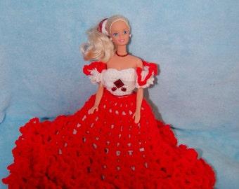 Crochet Birthday Barbie dress/July Ruby/Annie's Attic