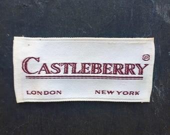 Vintage designer Castleberry clothing label.