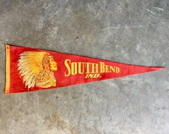 Vintage South Bend Indiana Pennant