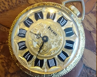 Swiss pocket watch Gold color antique style