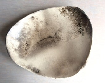 """smoked earthenware shallow bowl: 9"""" diameter"""