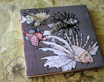 Handbound Art Journal Watercolour Sketchbook - Lionfish