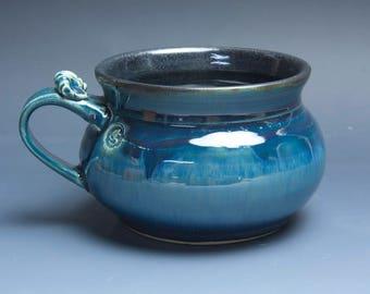 Handmade pottery soup mug ceramic chili mug cereal ice cream bowl 24 oz 3872