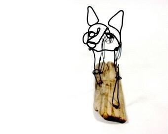 Fox Wire Sculpture, Wire Art, Folk Wire Art, 498388283
