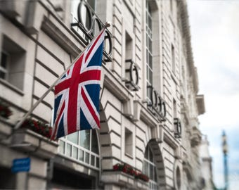 London Photograph, Union Jack, Flag, England, Europe wall art, Cityscape, Travel Photography, Urban Landscape, Anglophile, British Culture