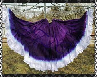 White Ruffle hand dyed 25yard skirt