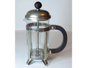 Melior French Press Coffee Maker, 3 Cup / 12 oz, Steel / Glass Coffee Brewer, Personal Coffee Pot