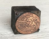 Waltham Watch Co. Vintage Newspaper Letterpress Printing Type Block
