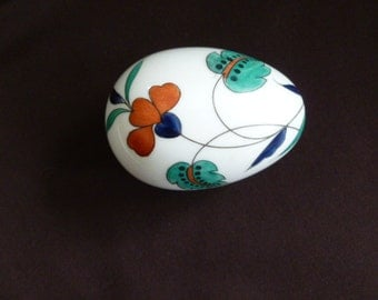 Limoges egg trinket/jewelry box Charmart France 1960's