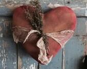 primitive Valentines Door Hanger