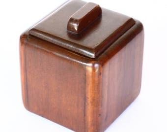 Beautiful solid wood lidded box