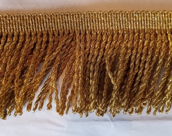 Fringe bullion in metallic  gold  braid trim  for costumes, decor, party couture and more 11 yards Wholesale
