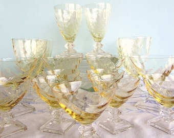 Unique Crystal Glasses Related Items Etsy