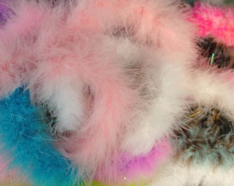 Boa Feathers, Boa Feather Destash, Multi Color Boa, Boa Destash, Multi Color Feathers, Marabou, Marabou Feathers
