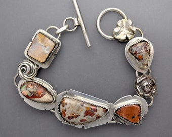 Native Copper and Opal  Bracelet