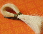 "Natural Horse Hair Bleached White for Braiding, Weaving, Jewelry Making -tassels  12 gram bundle 10-12"" long - HH-WHT"
