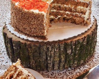 Rustic CAKE STAND - Natural Wood Slice - Tree Cake Stand - Perfect for Country Weddings