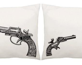 Peacemaker Pistol Gun Pillowcase Set