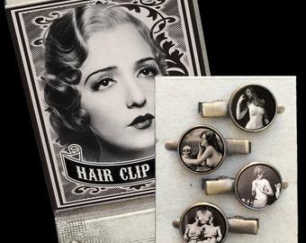 VINTAGE EROTICA Matchbox Hair Clip set